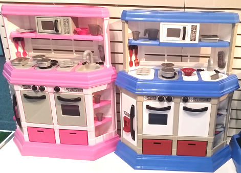 Play Kitchen sets for boys and girls with accessories, Made in USA, BPA Free and under $25