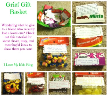 DIY Grief Gift Basket Tutorial-What to give a friend when they lose a loved one