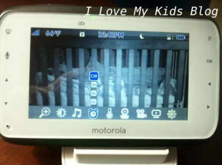Motorolla video baby monitor MBP854   alarm feature