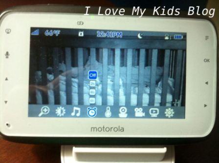 Motorolla video baby monitor MBP854   alarm feature