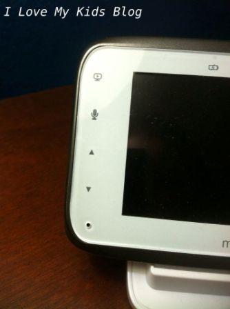Motorolla video baby monitor MBP854  left side controls