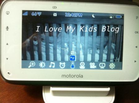 Motorolla video baby monitor MBP854  temp reading