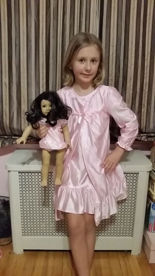 dollie and me soft silky nightgown and robe