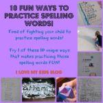 10 fun ways to practice spelling words!