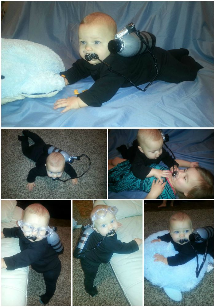 Baby Boy Scuba diver costume