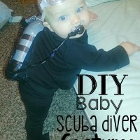 DIY Baby Scuba Diver Costume for Halloween-- Less than $5!