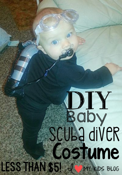DIY Baby Scuba Diver Costume for Halloween– Less than $5!