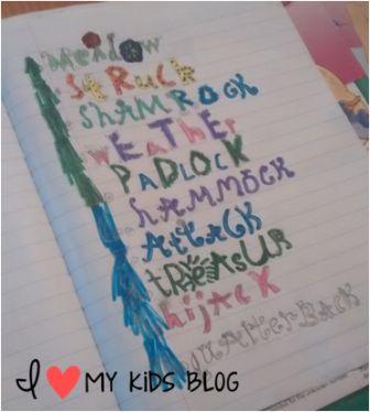 fun way to practice spelling words idea 3