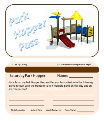 Fun Hometown Park Hopper Pass Idea for the Kiddos!