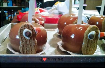 Thanksgiving treat idea turkey apples just need feathers