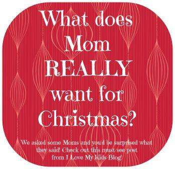 What does mom REALLY want for christmas button sm