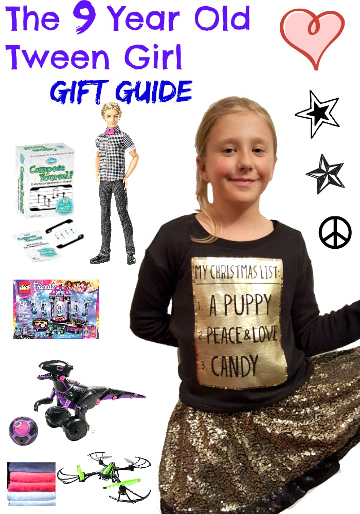 the 9 year old tween girl gift guide and gift ideas