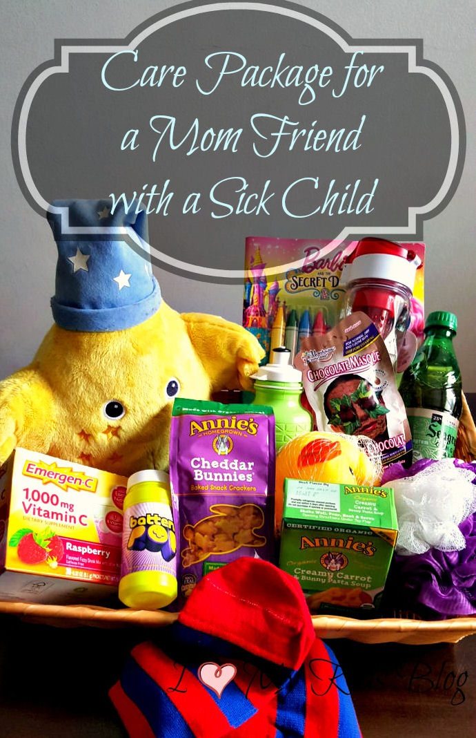 care package idea for a mom friend with sick kids