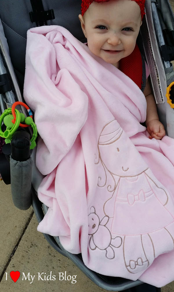 Whimsical Collection Lil Girl Stroller Blanket
