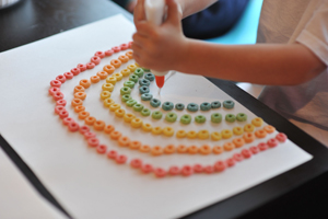 fruit loop rainbow craft