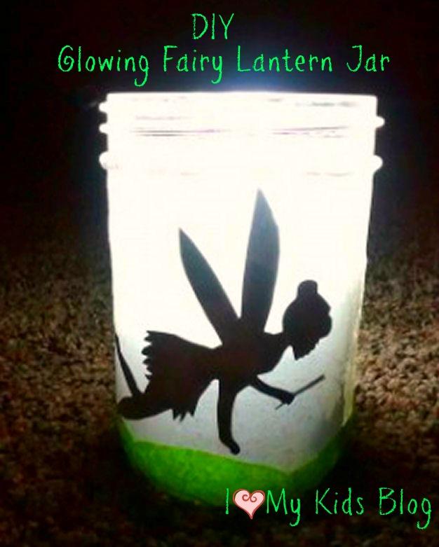 diy glowing fairy lantern jar