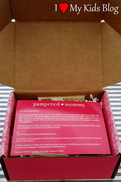 Pampered Mommy Box Welcome Letter