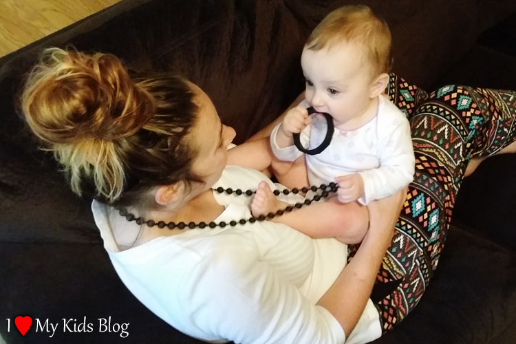 Mama and Little Teething Bracelet and Necklace