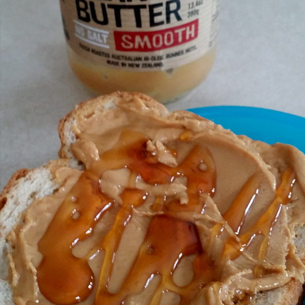 Peanut Butter and Organic Honey Sandwich