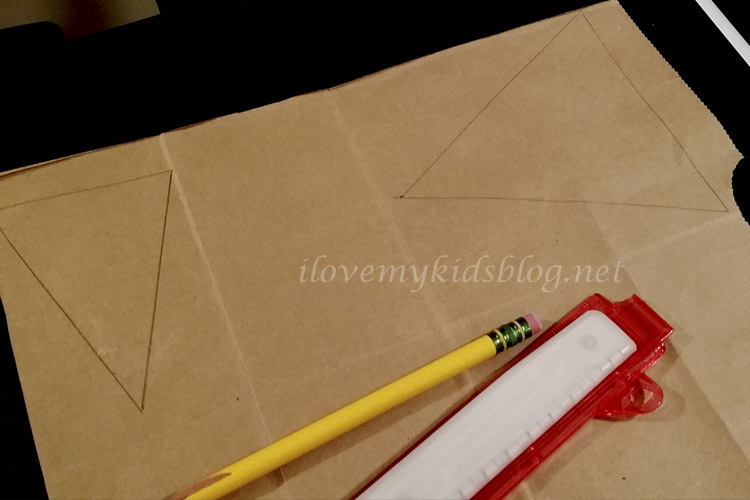 Sketch out the design you want for your Upcycled Paper Banner using a pencil and ruler