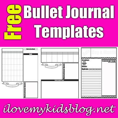 Free Monthly-Weekly-Daily Bullet Journal Template Downloads