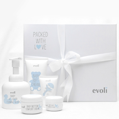 Provide the Best Skincare for Your Baby From Day One with the Evoli Welcome Newborn Set