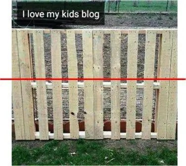 wood pallet bike rack cut
