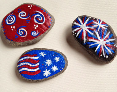 4th of July Craft Ideas- Rock Painting