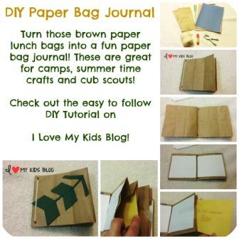 Paper bag craft journal button small