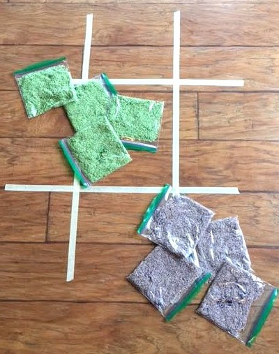 A Fun Indoor Rainy Day Activity- Tic Tac Toe Toss [Activity Sticks Activity]