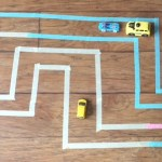 DIY Tape Road for your Car Obsessed Child [Activity Sticks Activity]