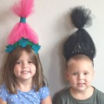 Adorable DIY Poppy and Branch Troll Headband Wigs for Halloween