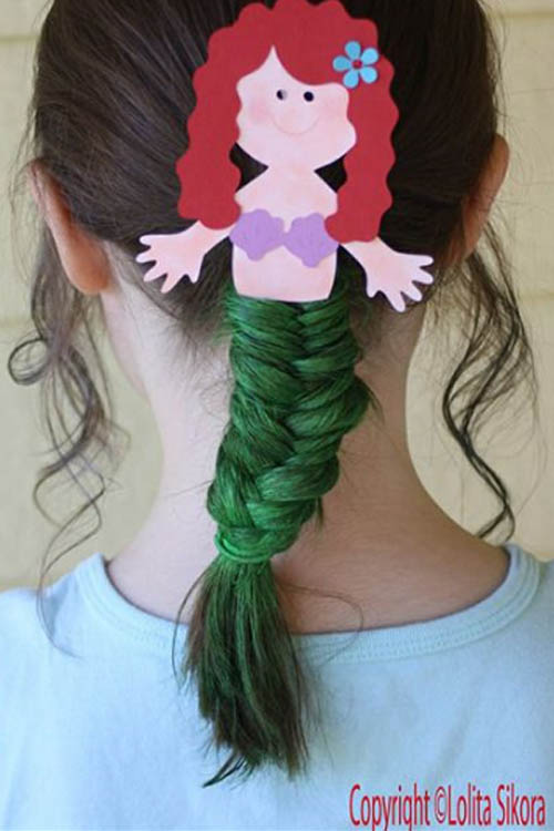 Halloween Hairstyle Little Mermaid