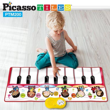 2017 Pre-K Holiday Gift Guide PicassoTiles Piano Playmat