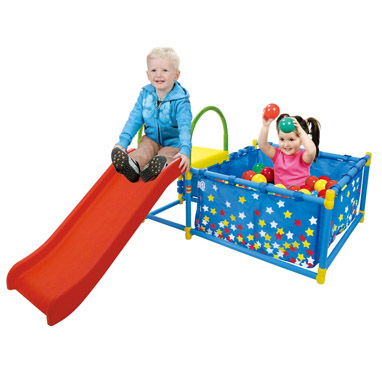 2017 Pre-K Holiday Gift Guide Eezy Peezy Fold-It Classic Ball Pit & Slide