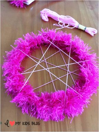 DIY Unicorn Dream Catcher Craft 4
