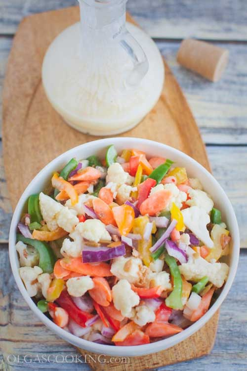 Veggies Most: Cauliflower Bell Pepper Salad