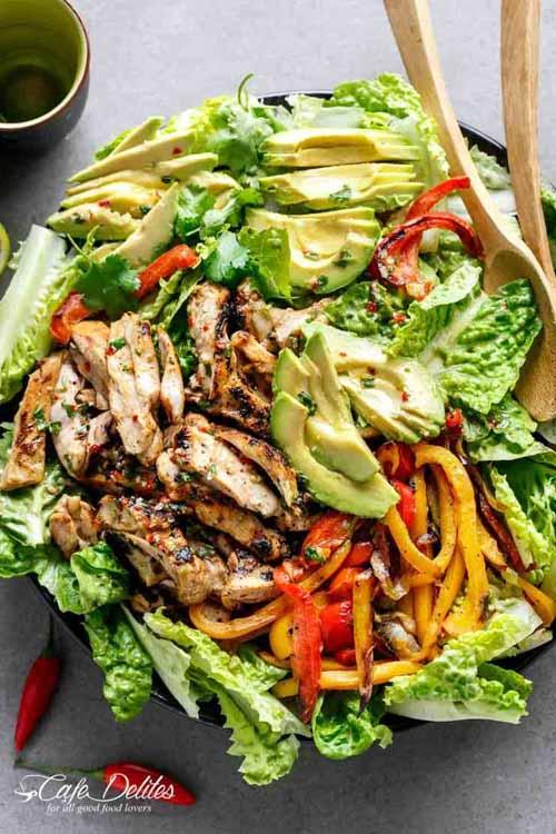 Veggies Most: Grilled Chili Lime Chicken Fajita Salad