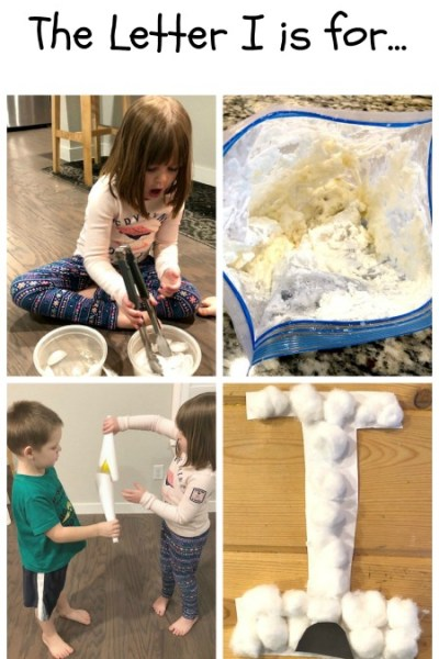 I is for Ice, Ice Cream and Igloo: Preschool Activities for the Letter I