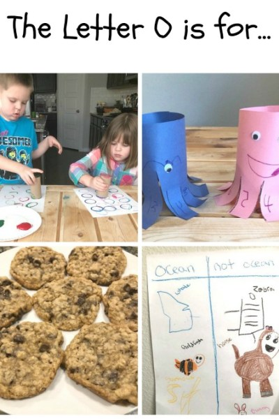 O is for O's, Octopus, Oatmeal and Ocean: Preschool Activities for the Letter O