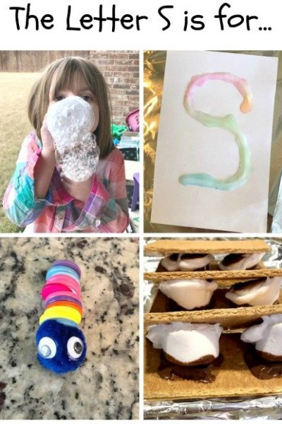 S is for Snake, Salt and Smore: Preschool Activities for the Letter S