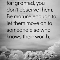 Take for granted.
