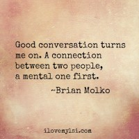 Good conversation.