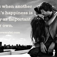 Your happiness is as essential as theirs.