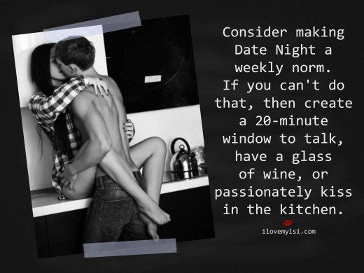 consider making date night a weekly norm