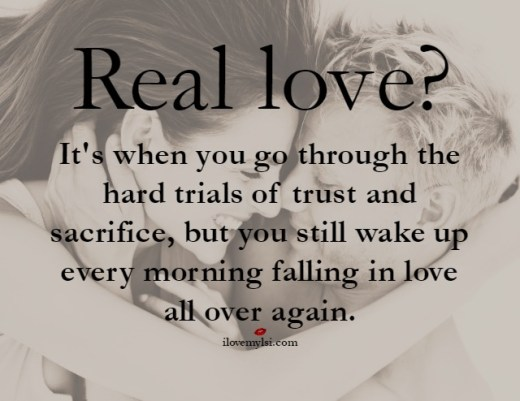 real love it's when you go through