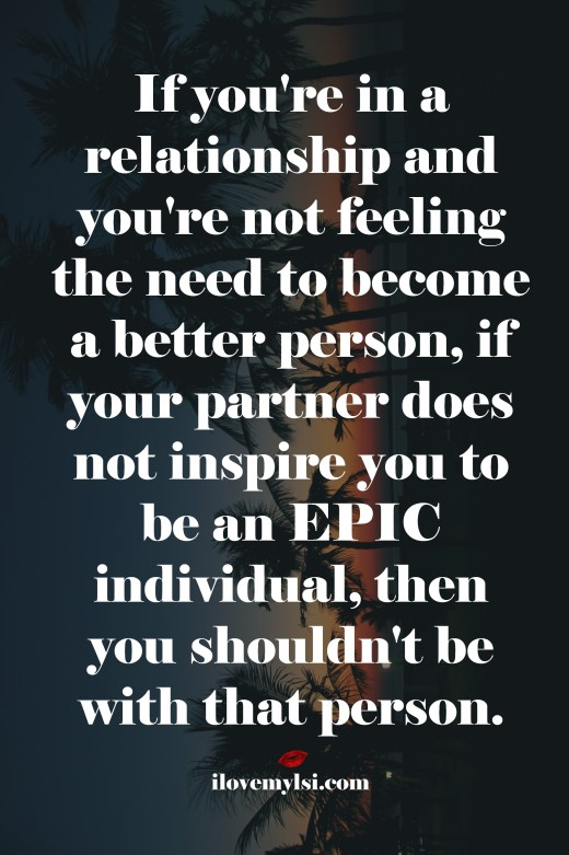 Be an epic individual
