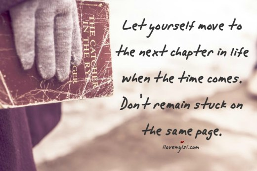 let yourself move to the next chapter