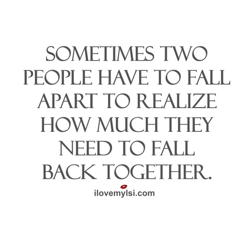 sometimes two people have to fall