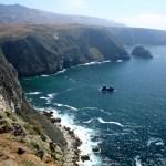 Channel Islands NP Santa Cruz Island cliffs